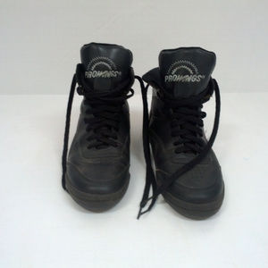 retro  gymnastic jazz dance black high top shoes